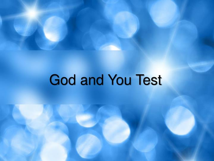 God and You Test