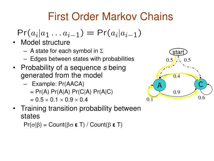 First Order Markov Chains