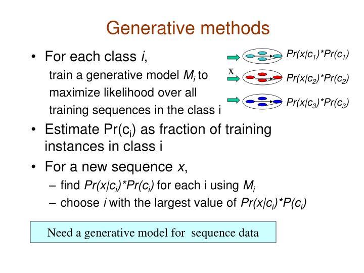 Generative methods