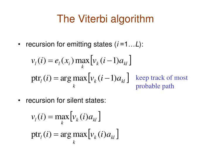 The Viterbi algorithm