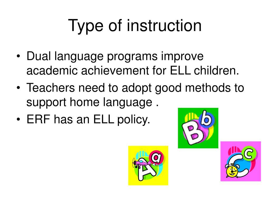 Type of instruction