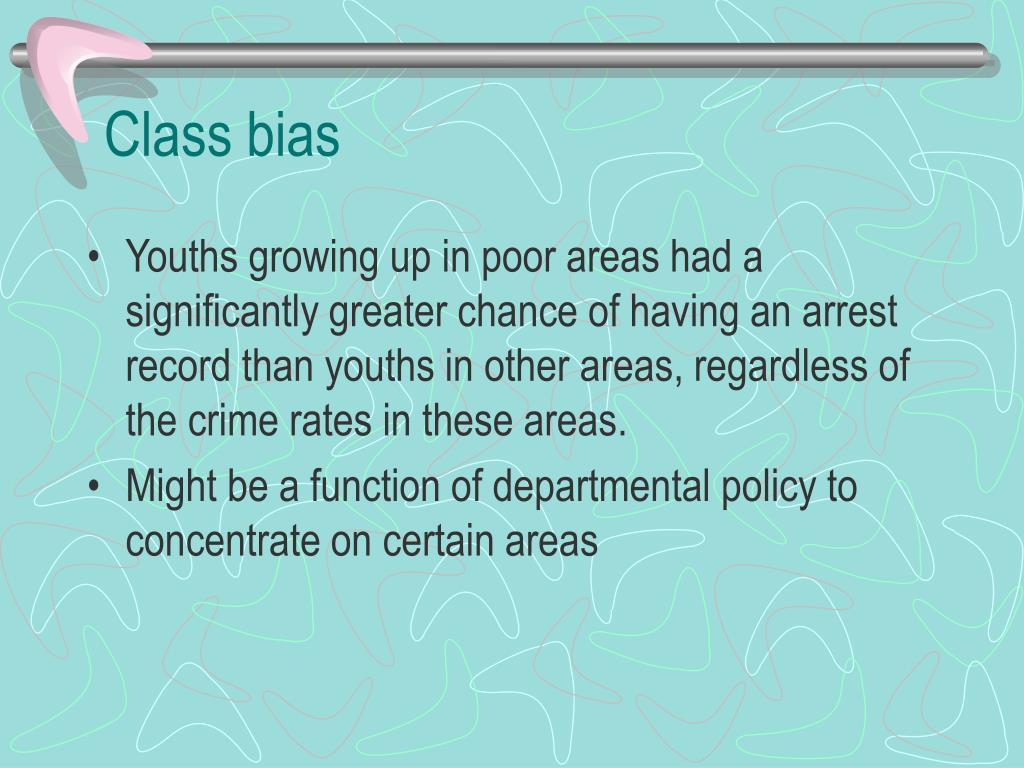 Class bias