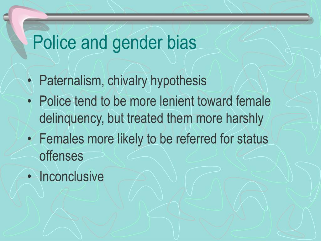 Police and gender bias
