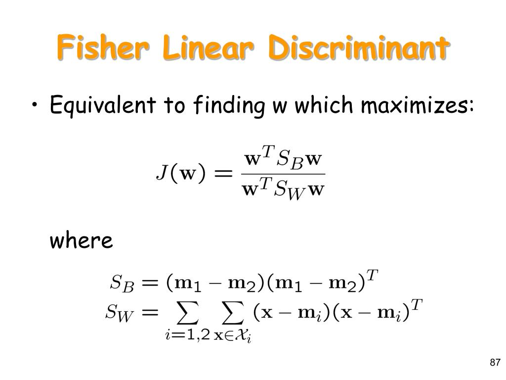 Fisher Linear Discriminant