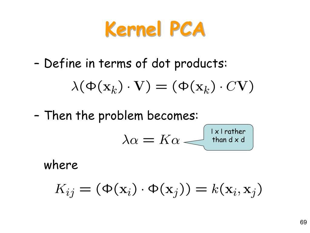 Kernel PCA