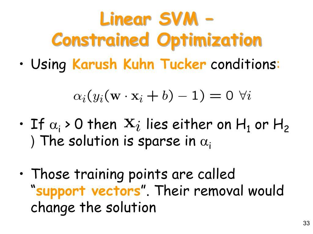 Linear SVM –