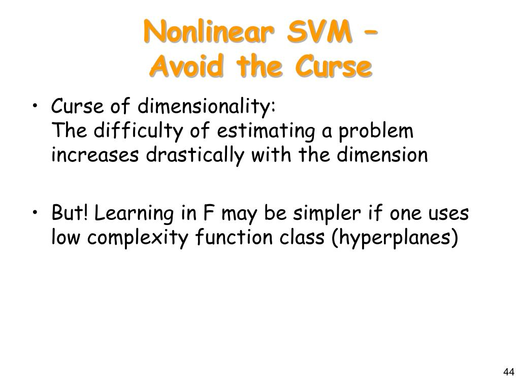 Nonlinear SVM –