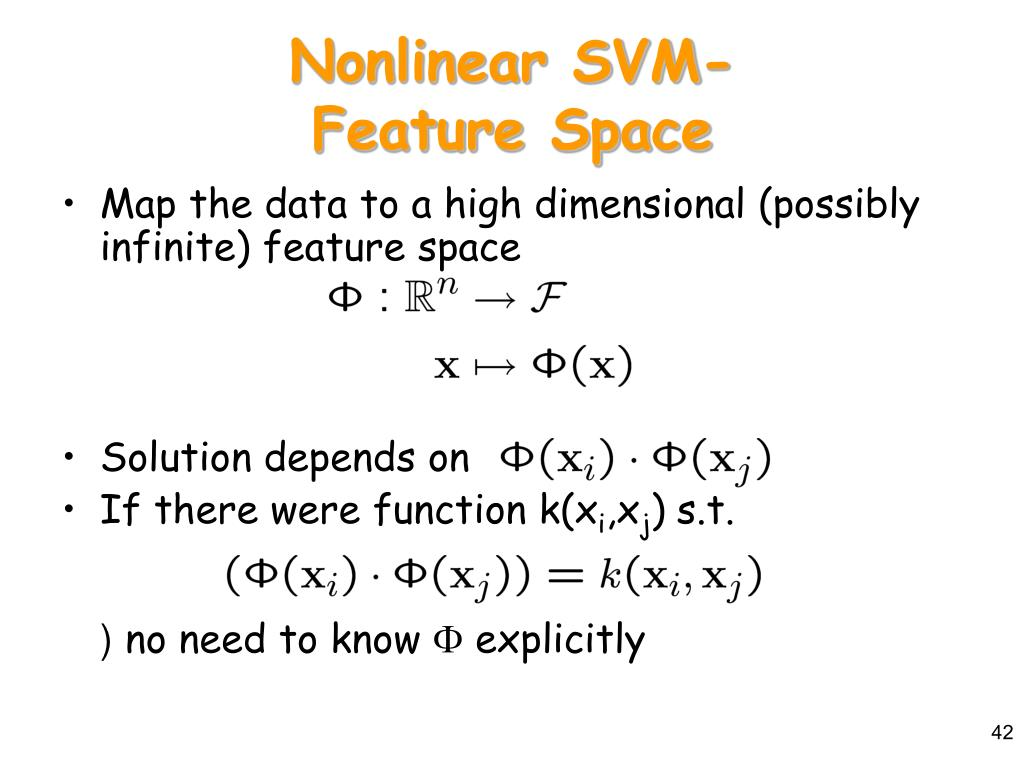 Nonlinear SVM-