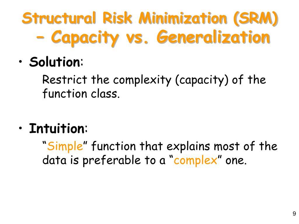 Structural Risk Minimization (SRM)