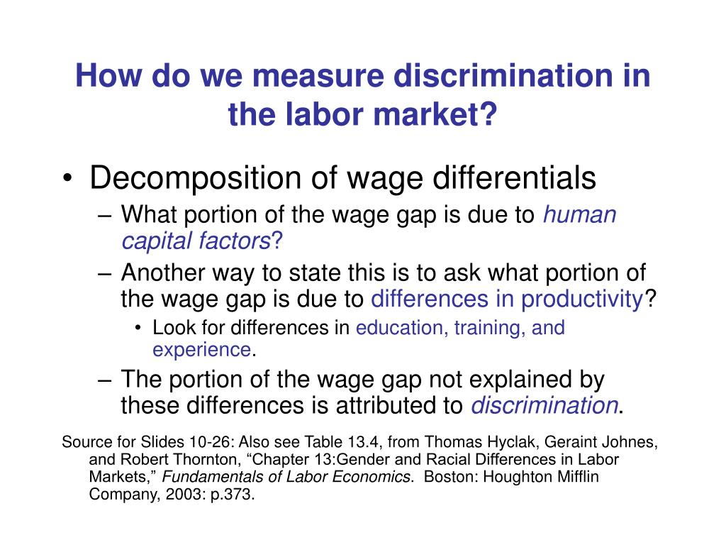 How do we measure discrimination in the labor market?