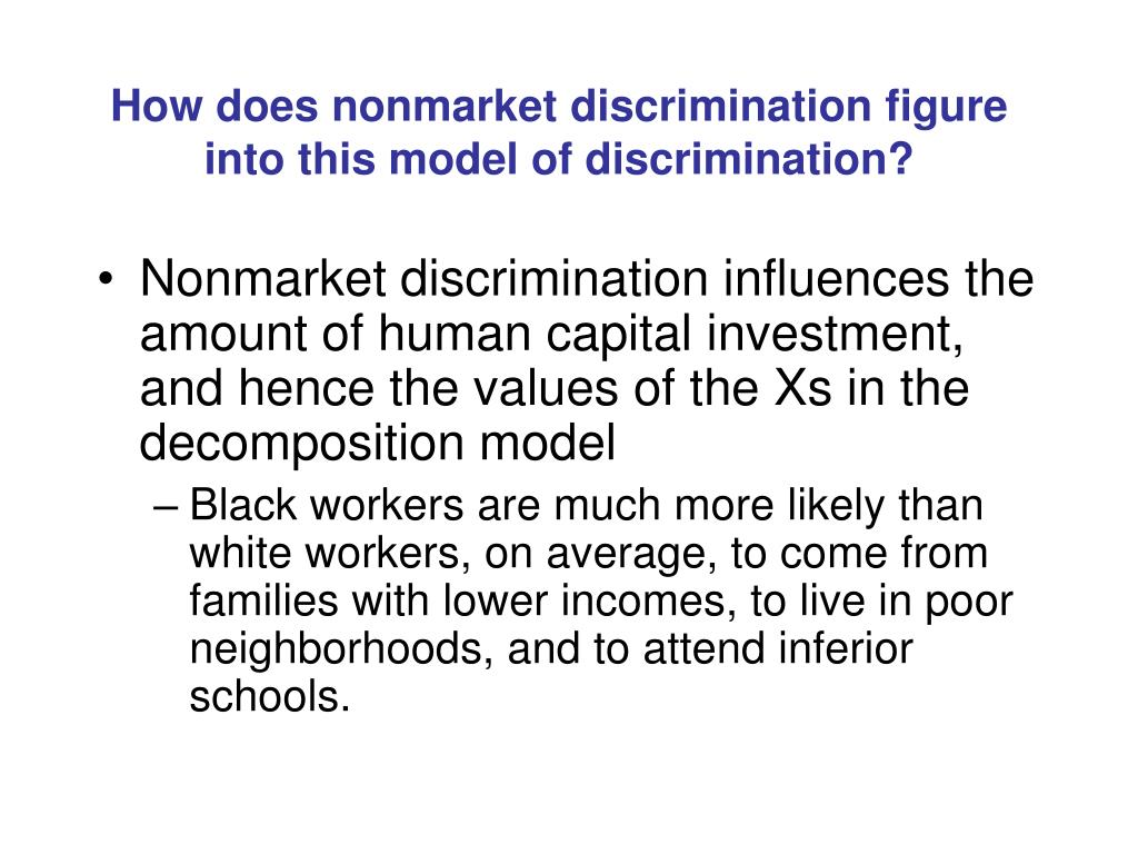 How does nonmarket discrimination figure into this model of discrimination?