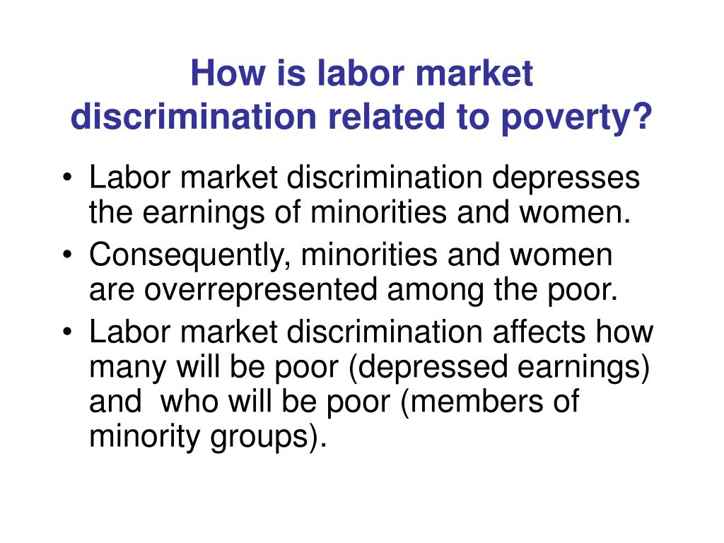 How is labor market discrimination related to poverty?