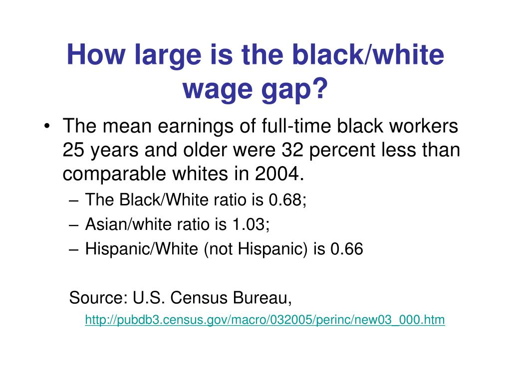 How large is the black/white wage gap?
