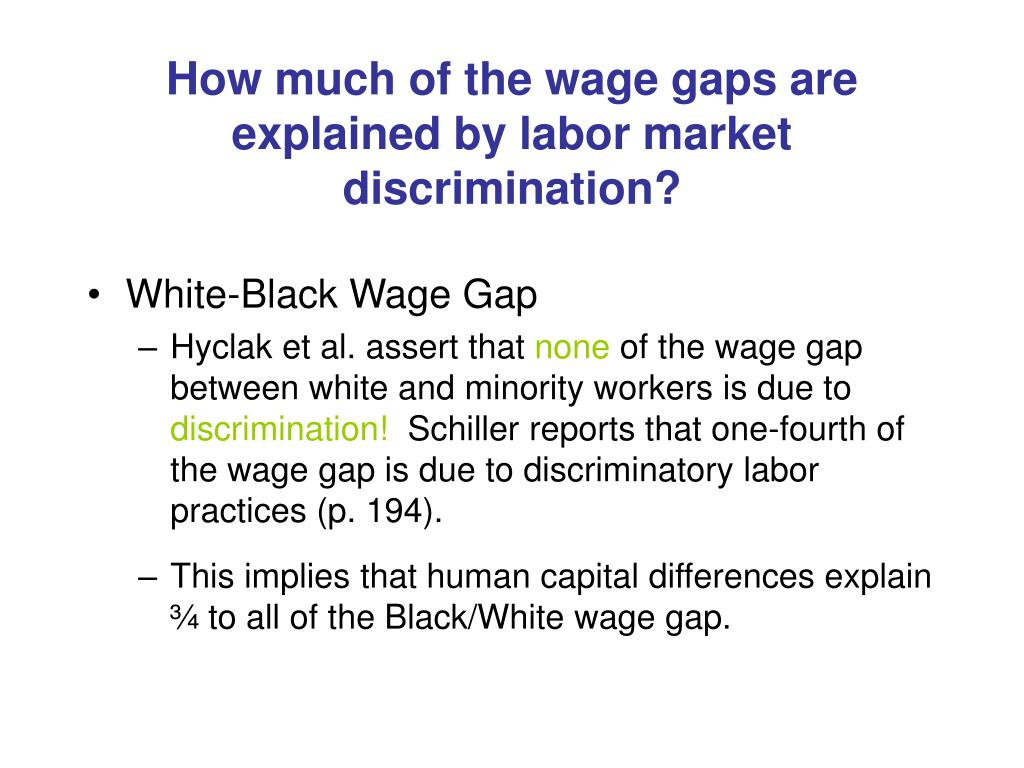 How much of the wage gaps are explained by labor market discrimination?