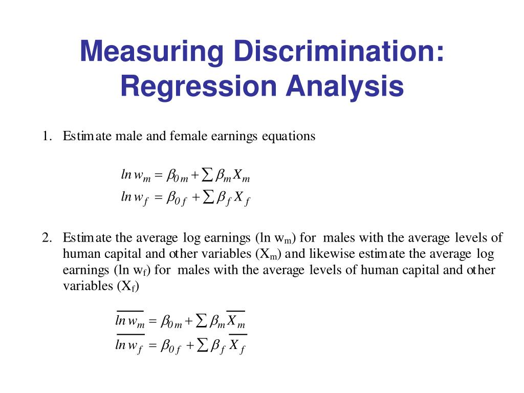 Measuring Discrimination: Regression Analysis