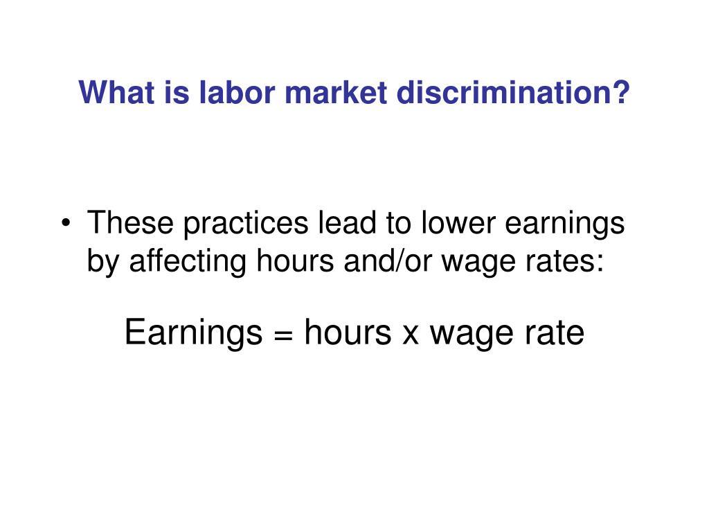 What is labor market discrimination?