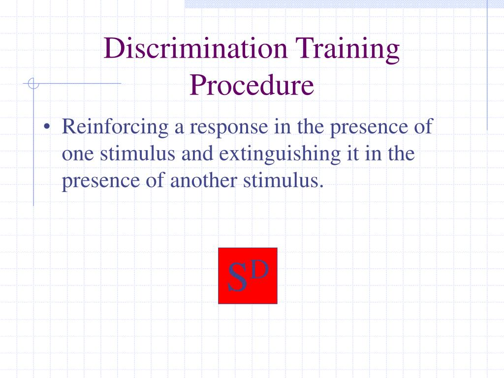 Discrimination Training Procedure