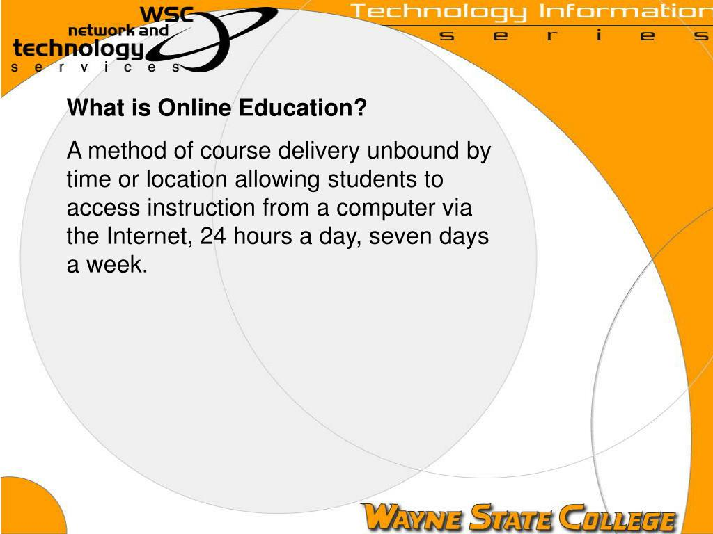 What is Online Education?