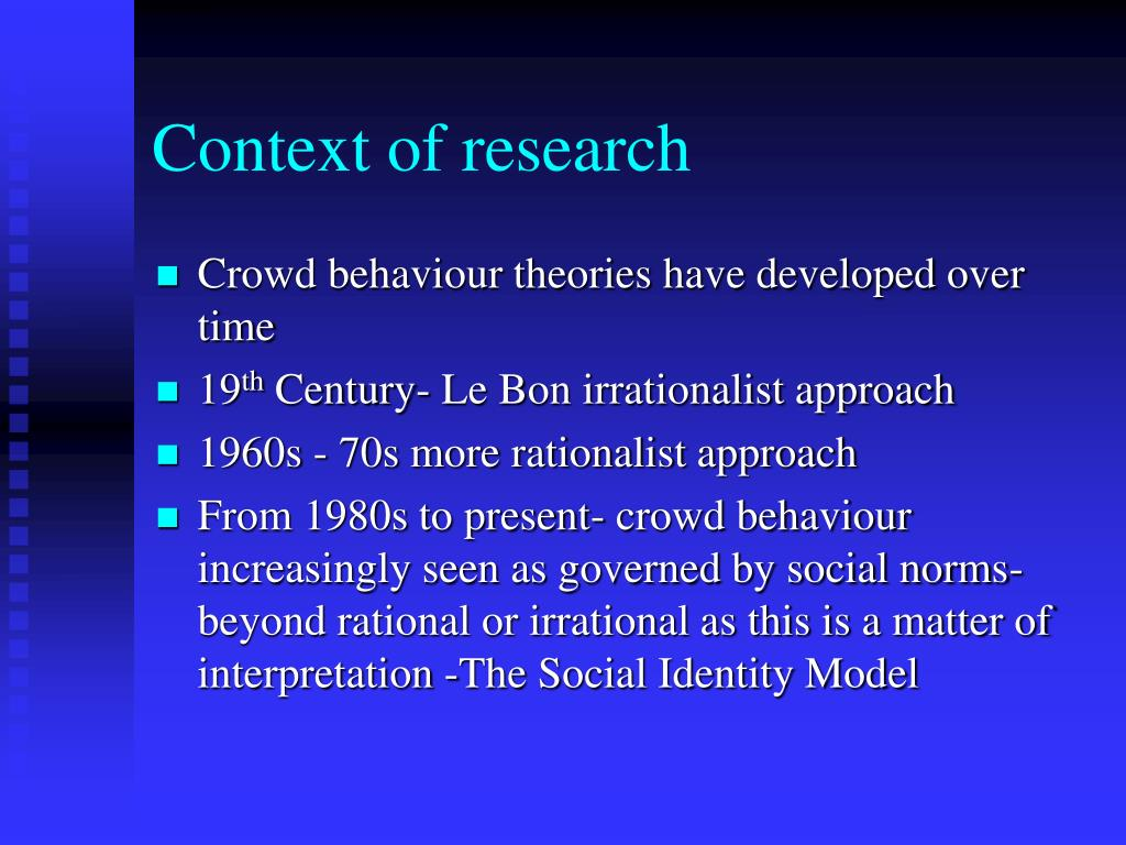Context of research
