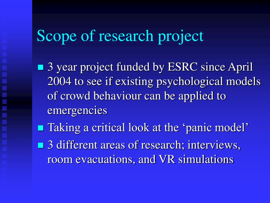 Scope of research project