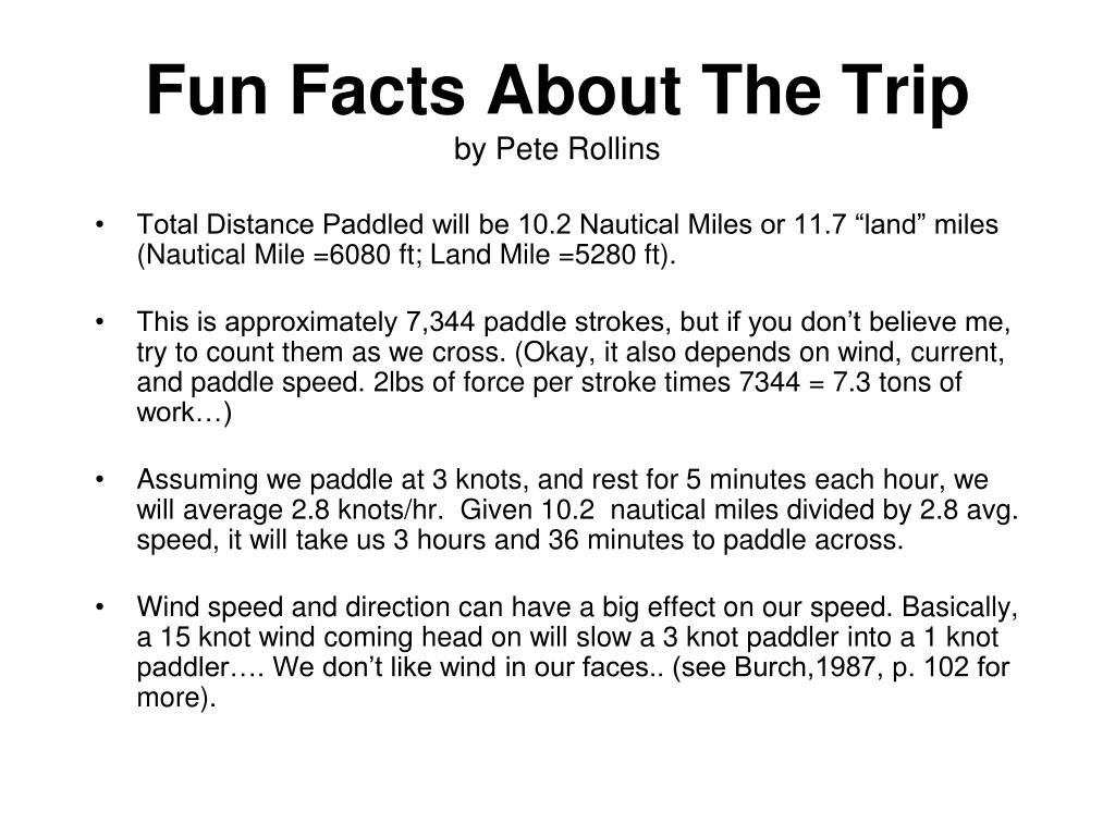 Fun Facts About The Trip
