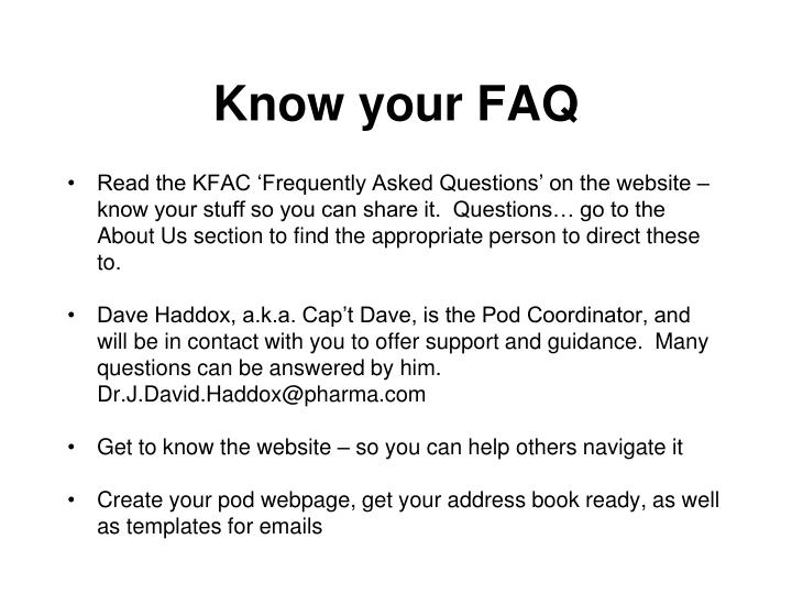 Know your faq