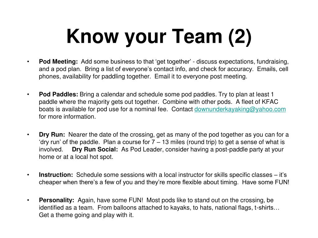 Know your Team (2)