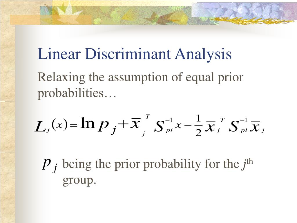 PPT - Linear Discriminant Analysis and Its Variations ...  PPT - Linear Di...