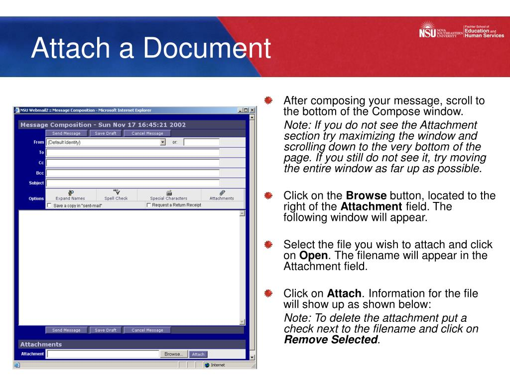 Attach a Document