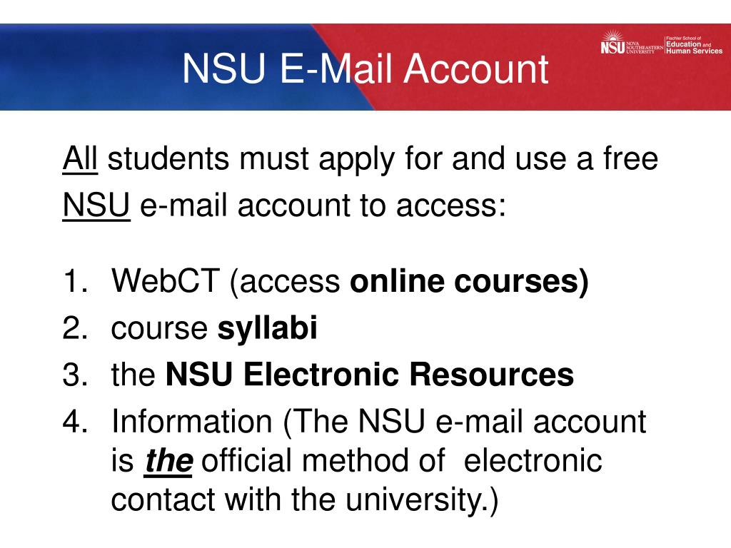 NSU E-Mail Account