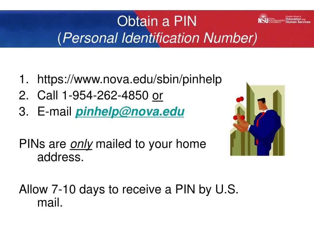 Obtain a PIN