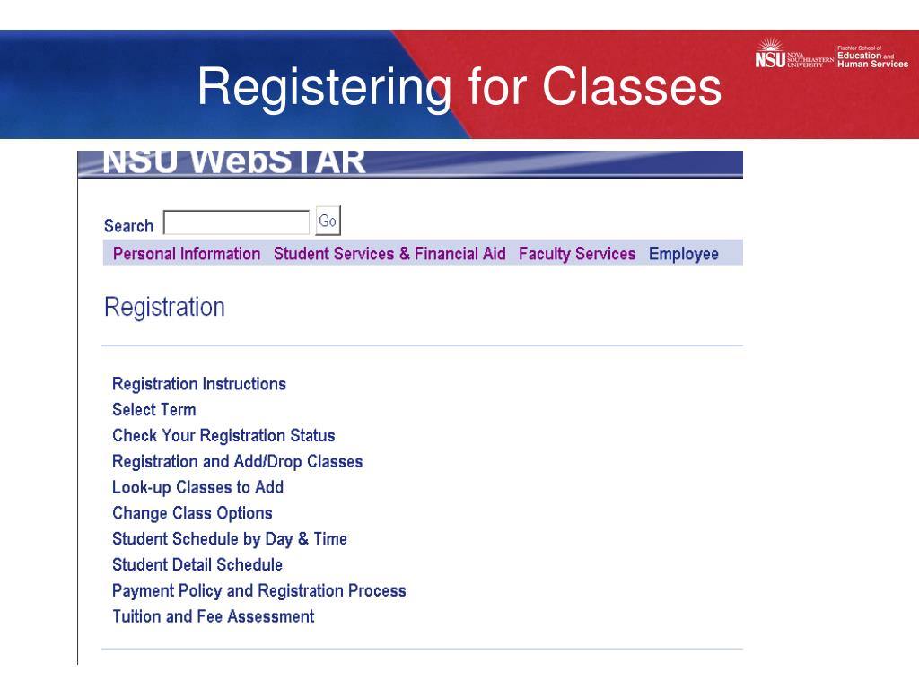 Registering for Classes