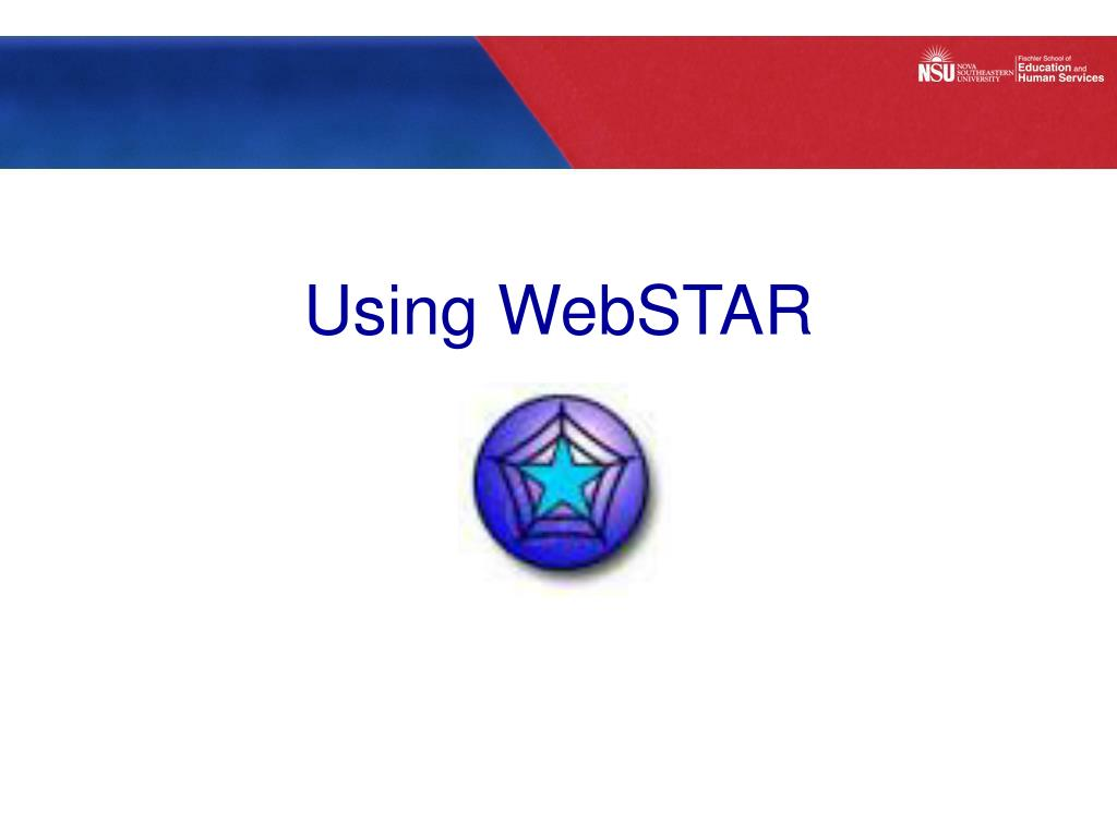 Using WebSTAR