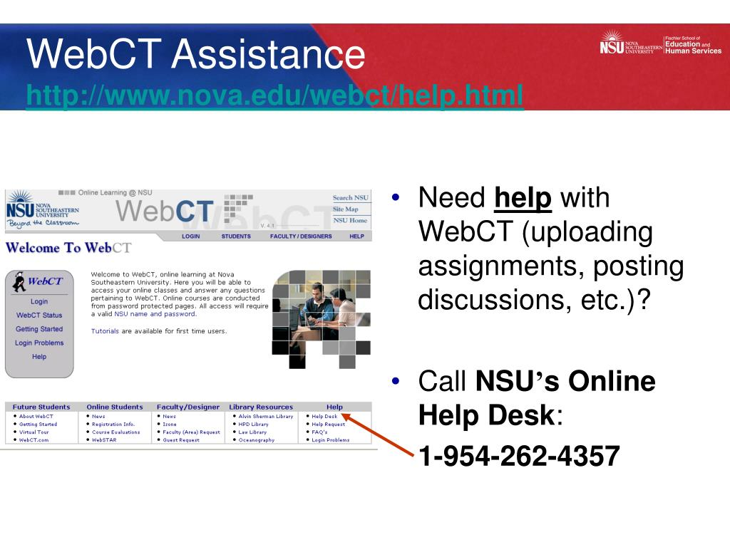 WebCT Assistance