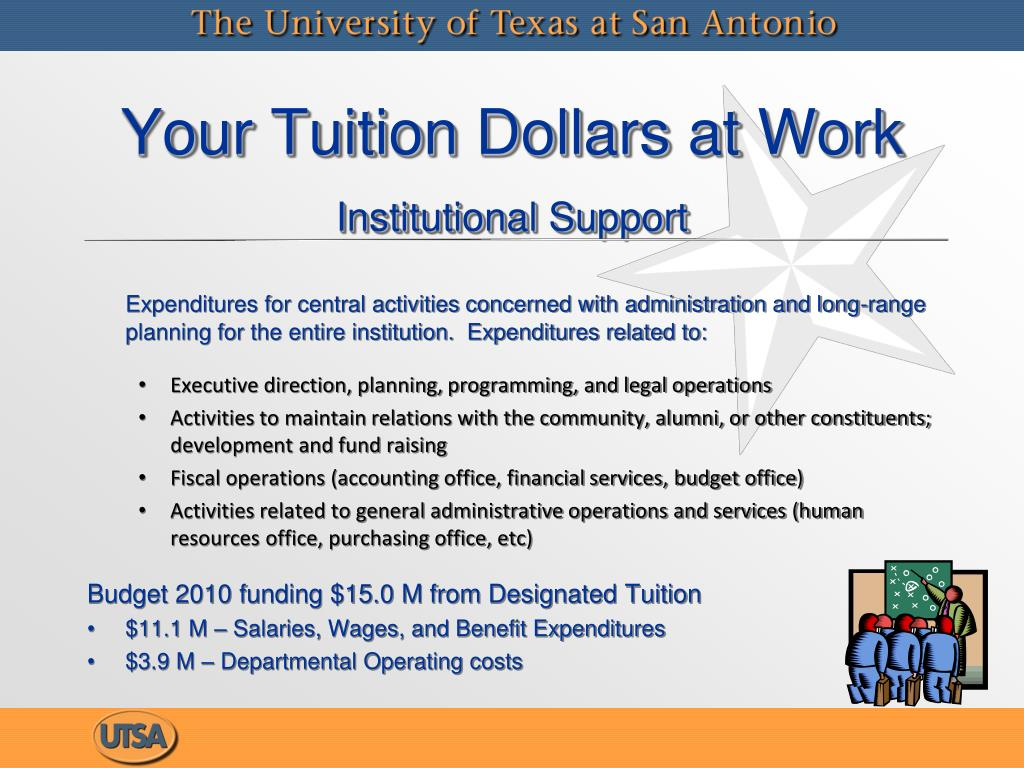 Expenditures for central activities concerned with administration and long-range planning for the entire institution.  Expenditures related to: