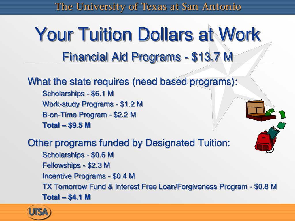 What the state requires (need based programs):