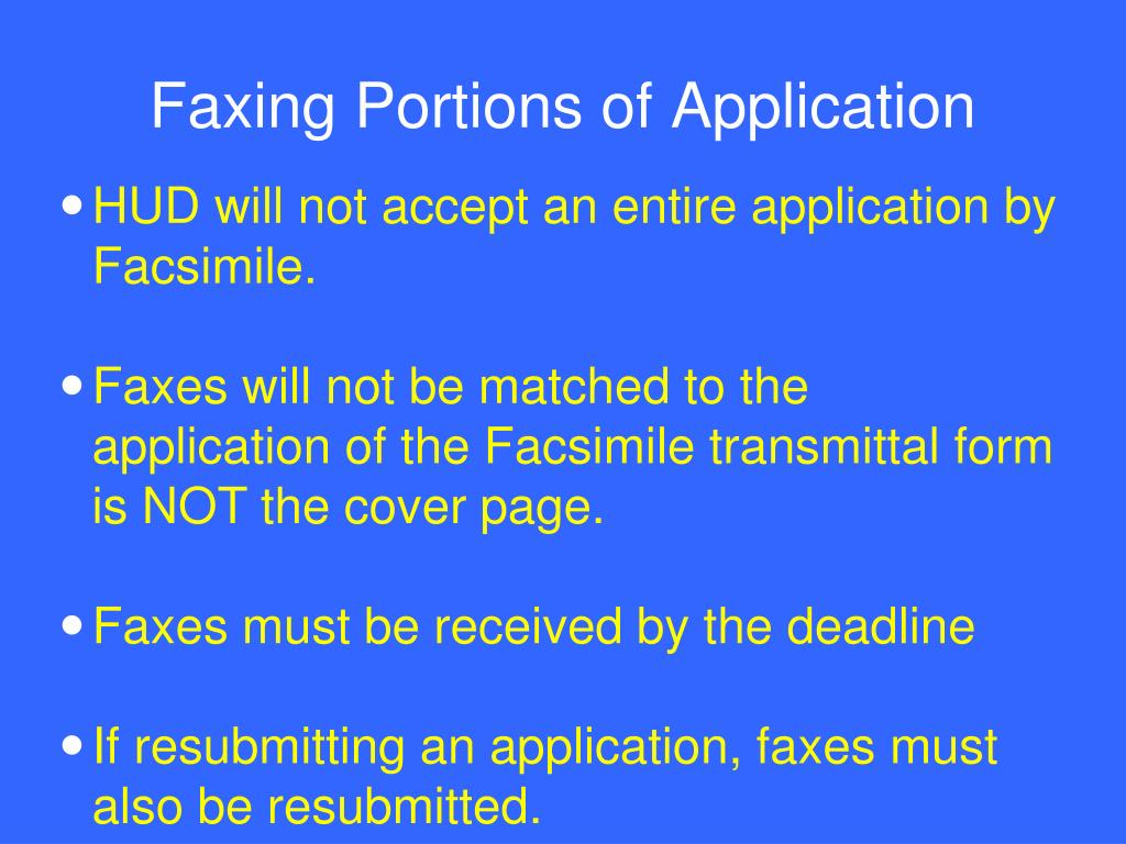 Faxing Portions of Application