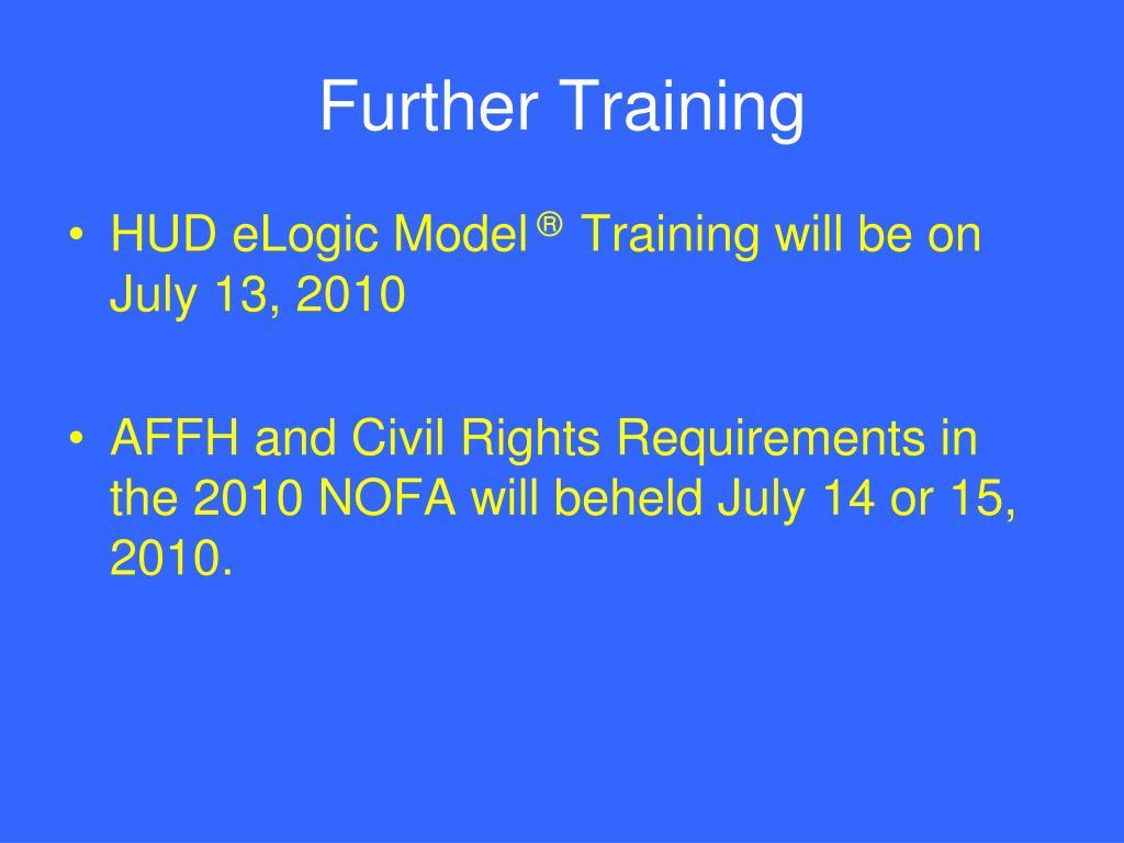 Further Training