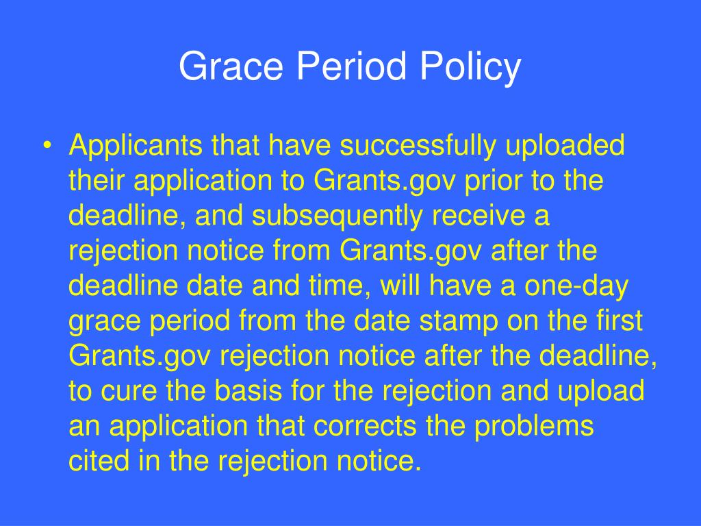 Grace Period Policy
