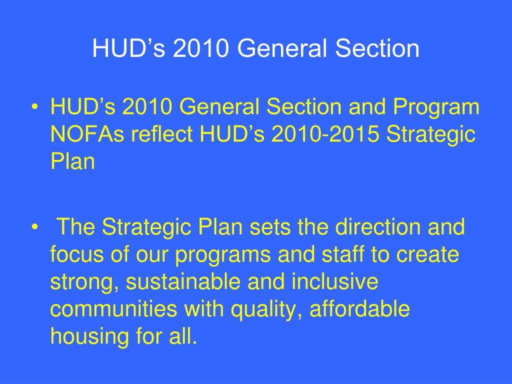 HUD's 2010 General Section