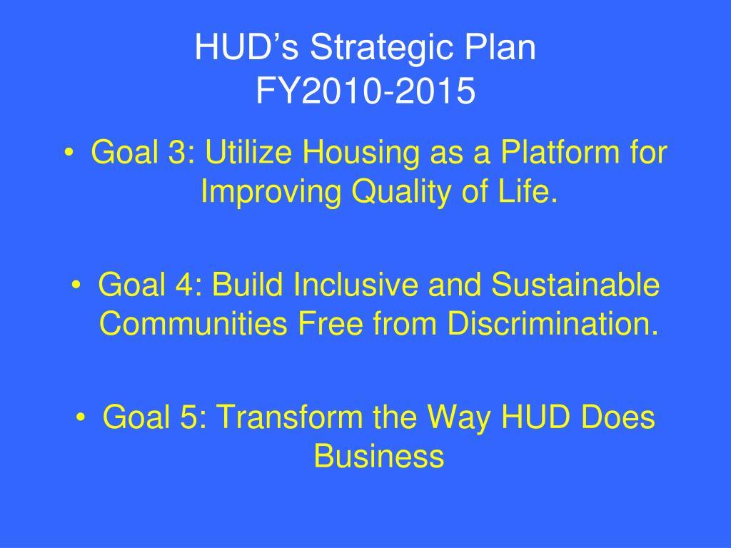 HUD's Strategic Plan