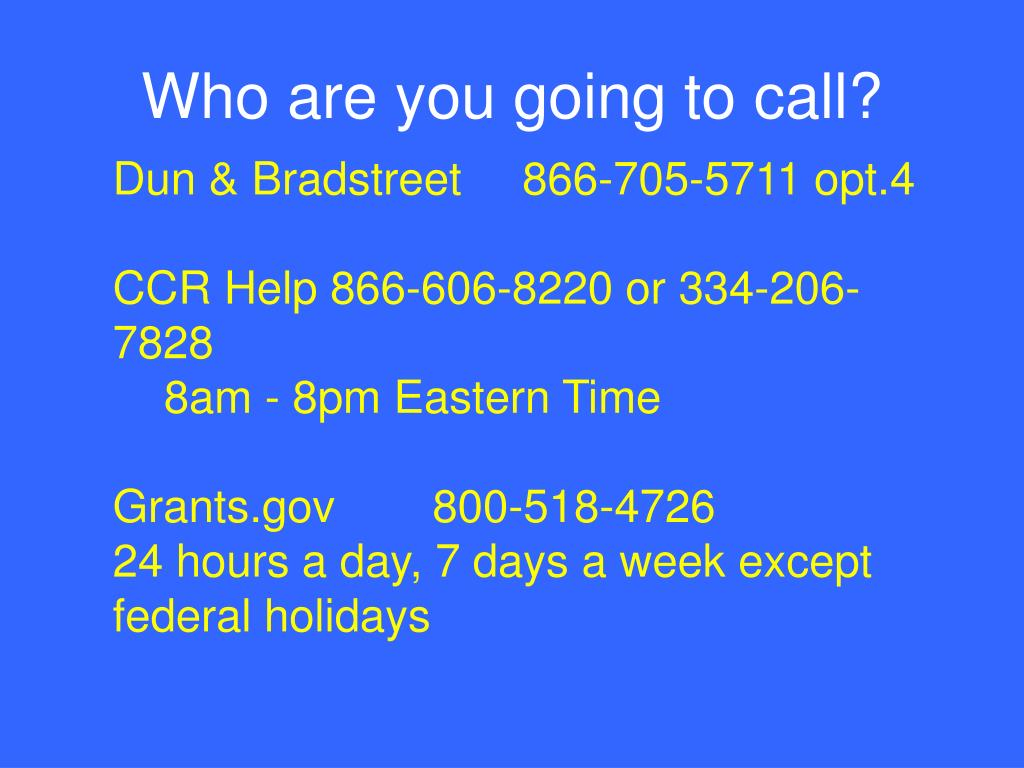 Who are you going to call?