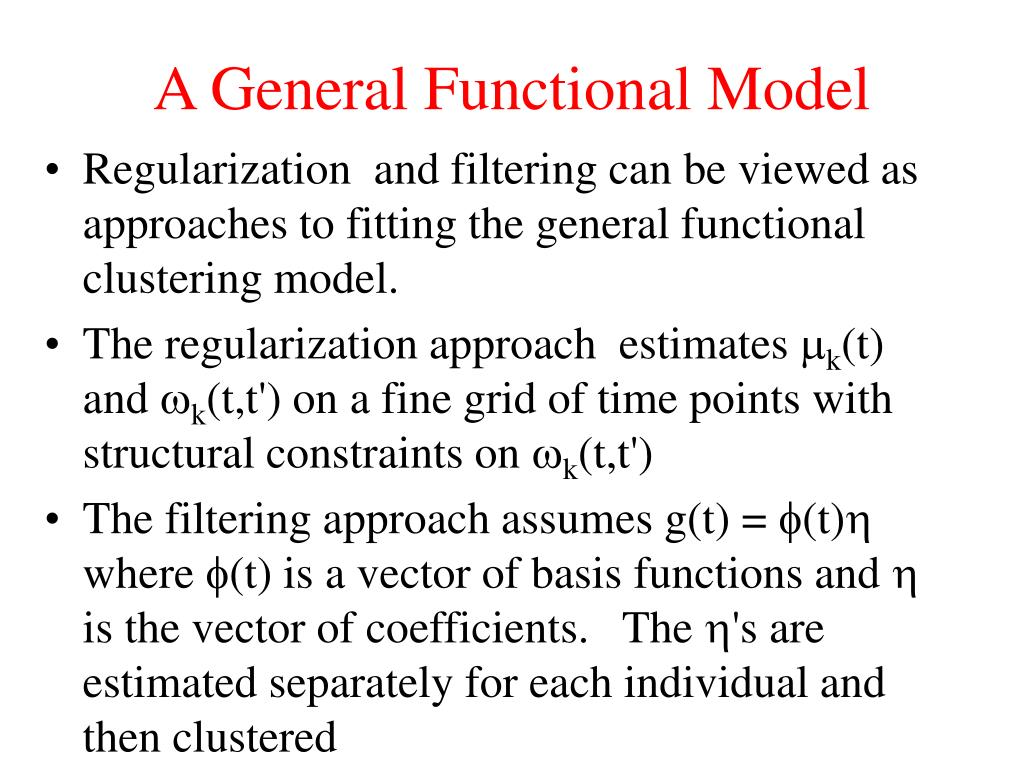 A General Functional Model