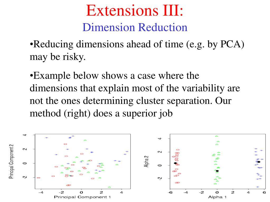 Extensions III: