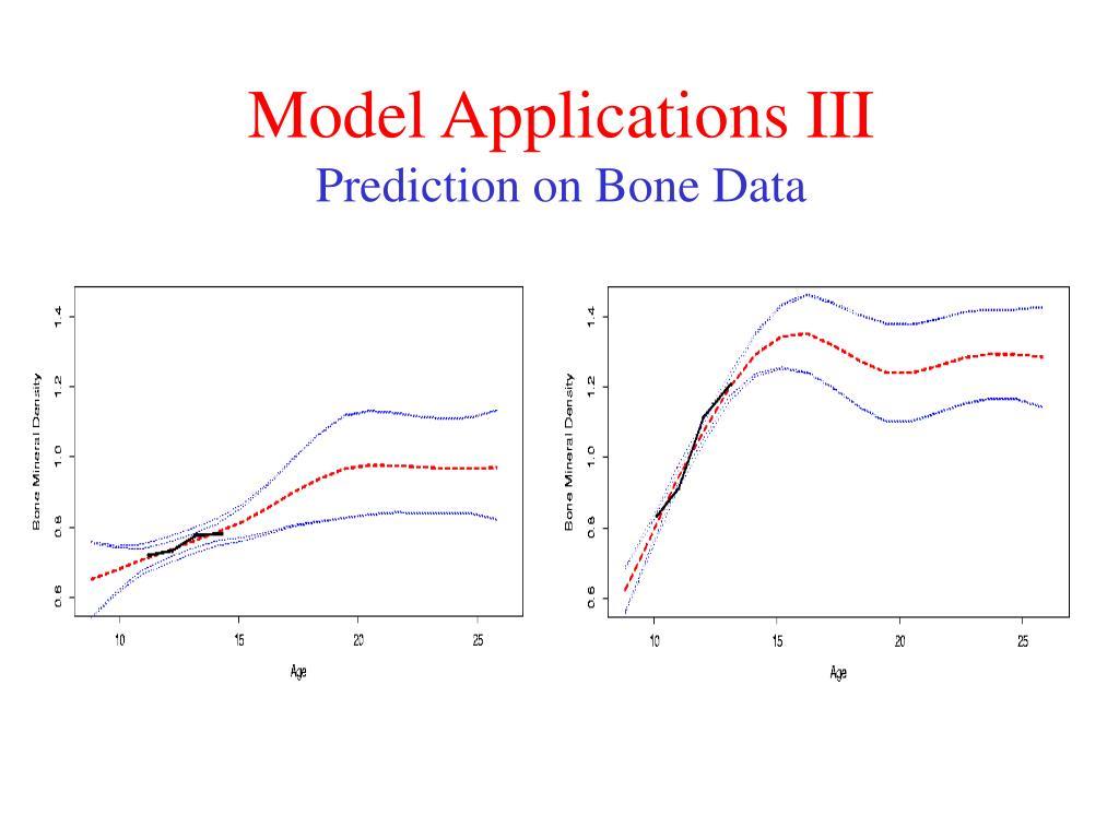 Model Applications III