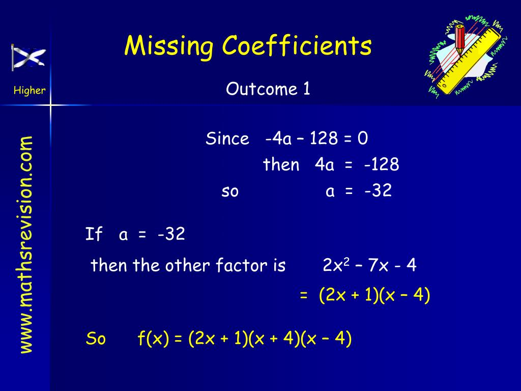Missing Coefficients