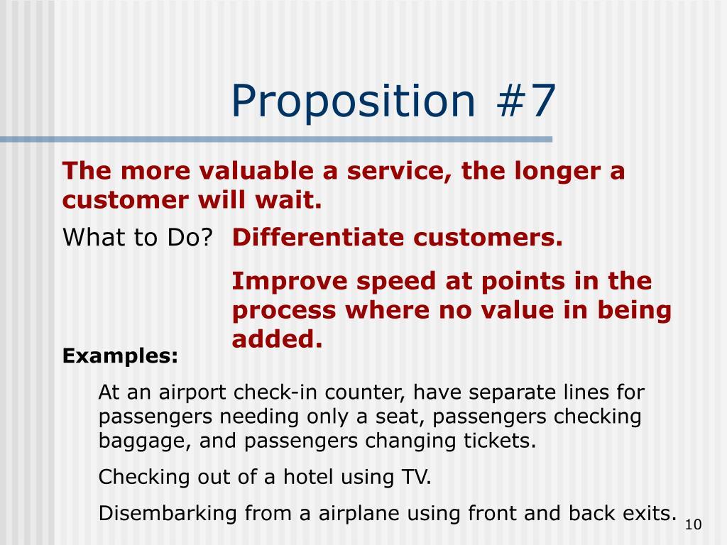Proposition #7