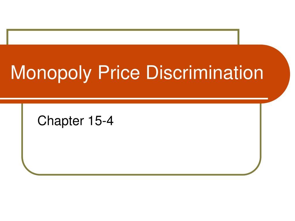 Monopoly Price Discrimination
