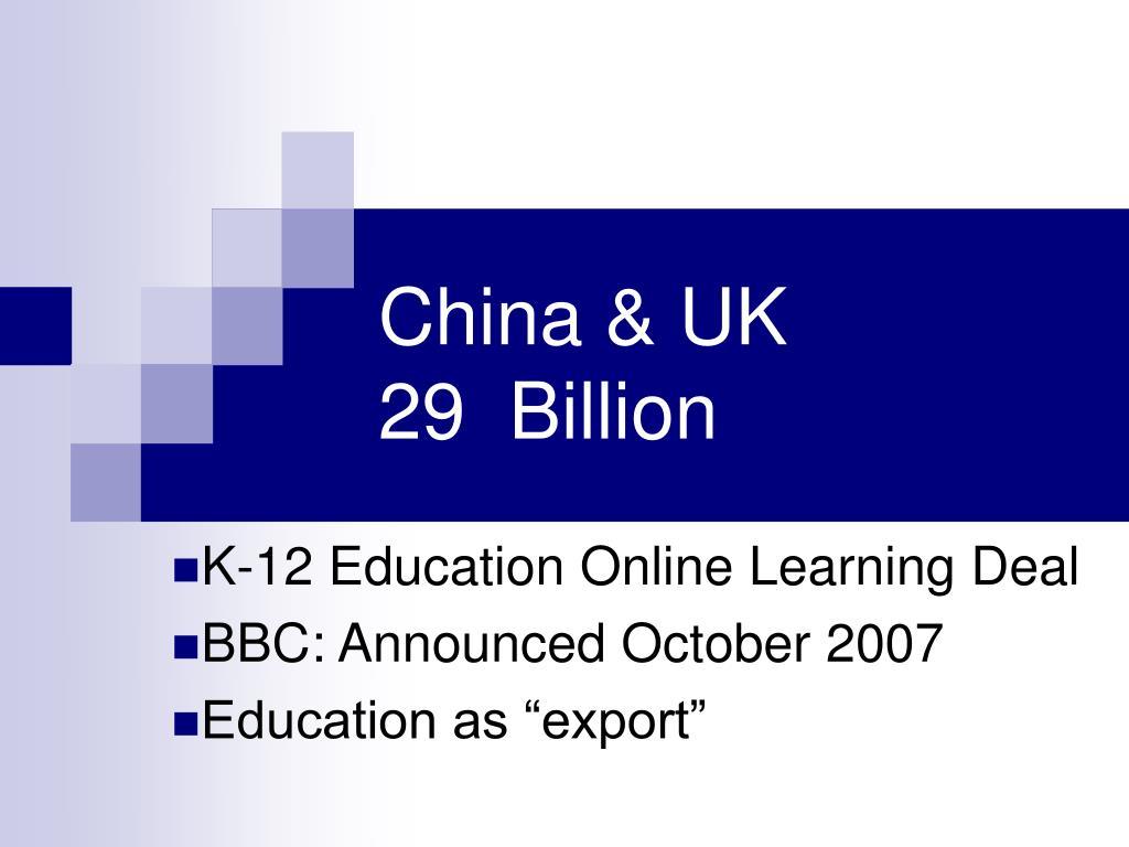 China & UK