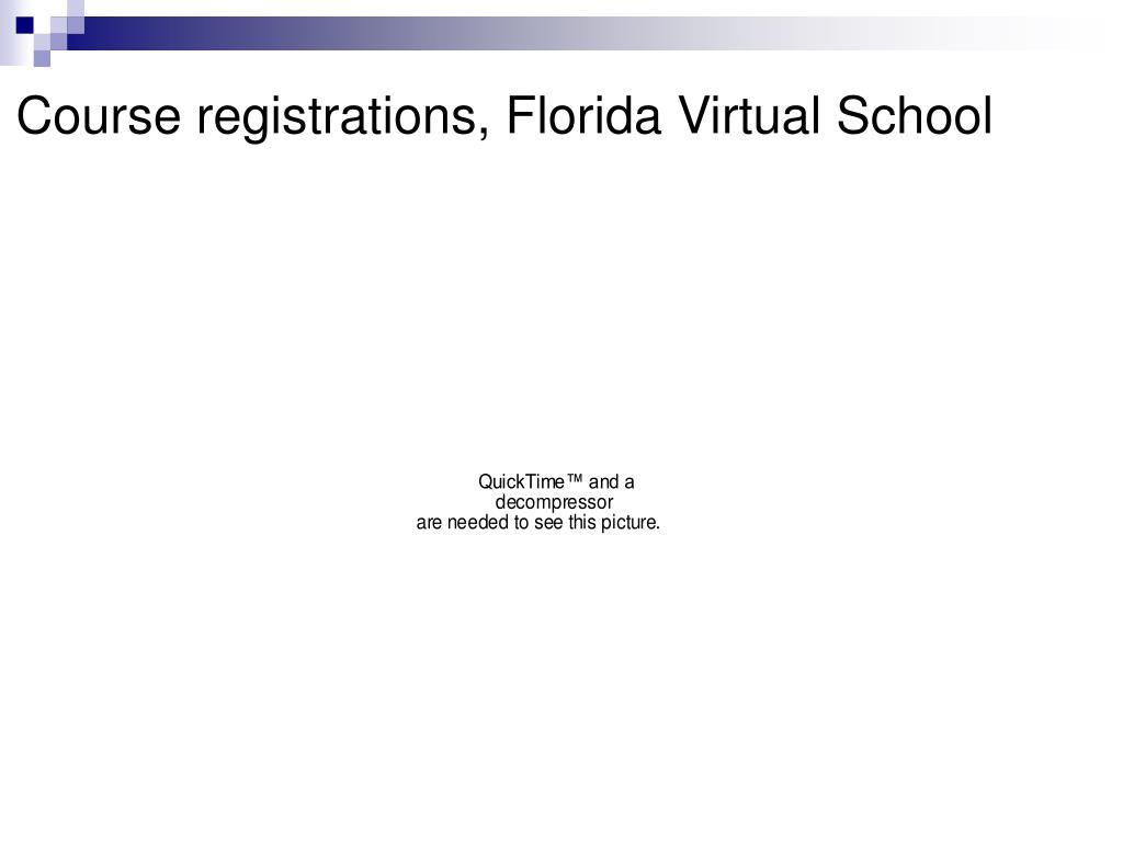 Course registrations, Florida Virtual School